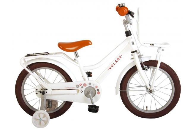 Volare Liberty Children's Bicycle - Girls - 16 inch - White - 95% assembled