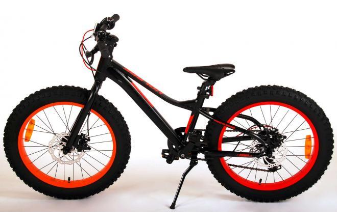 Volare Gradient Children's Bicycle – Boys – 20 inch – Black Orange Red – 6 speed – Prime Collection