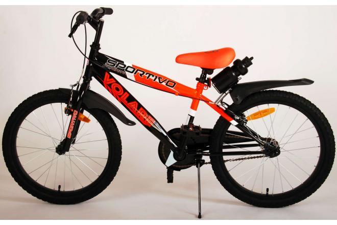 Volare Sportivo Children's Bicycle - Boys - 20 inch - Neon Orange Black - Two handbrakes