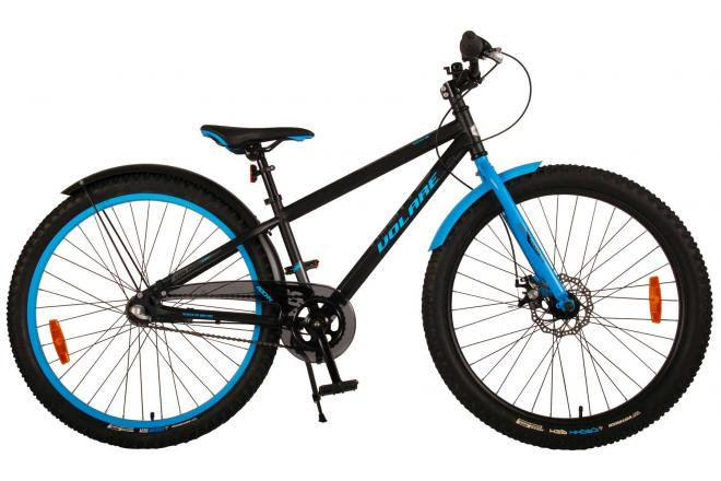 Volare Rocky Children's Bicycle - 26 inch - Black Blue - Shimano Nexus 3 gears  - Prime Collection