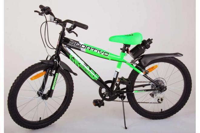 Volare Sportivo Children's Bicycle - Boys - 20 inch - Neon Green Black - 6 gears