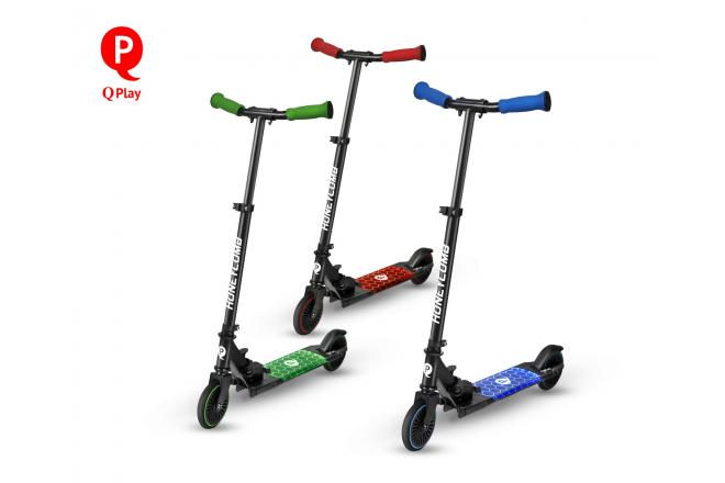 QPlay Honeycomb Scooter - Children - Green - With LED lighting
