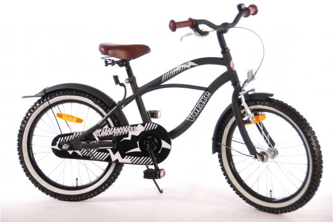 Volare Black Cruiser 18 inch boys bicycle 95% assembled