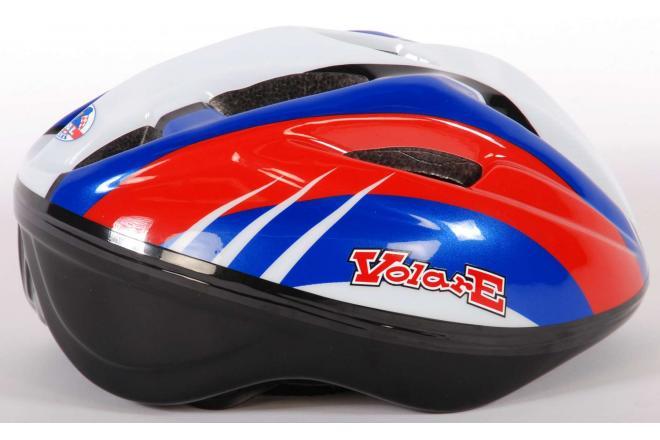 Volare Bicycle Helmet Deluxe - Red Blue White - 51-55 cm
